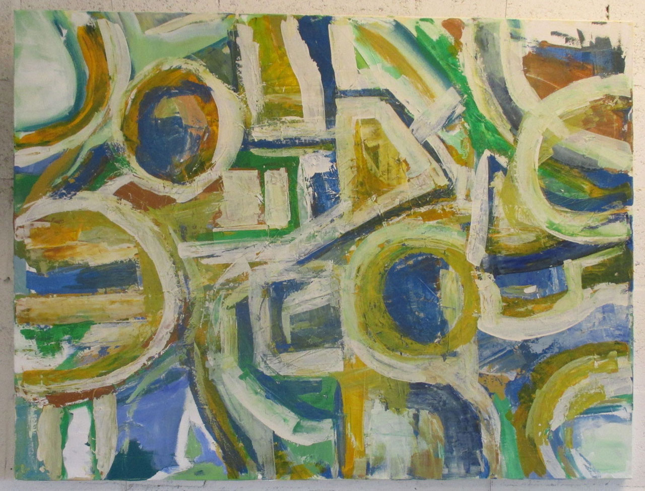 Two sides of the Equation. 36 X 48 inch abstract