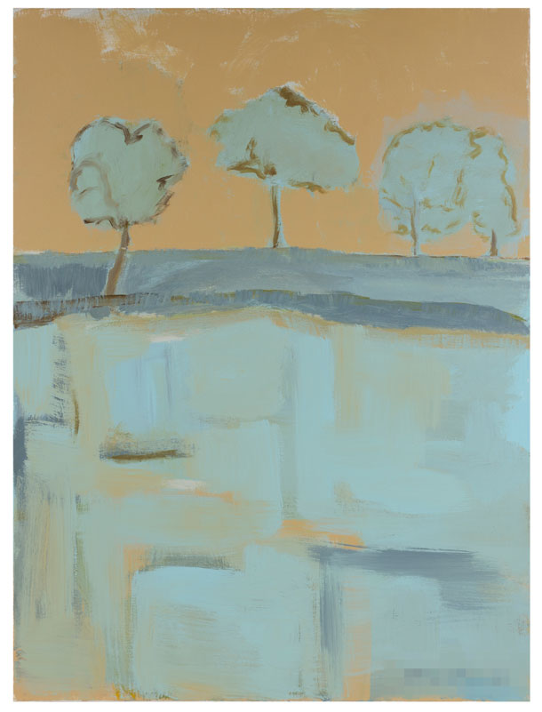 Blue Trees - 40 x 30