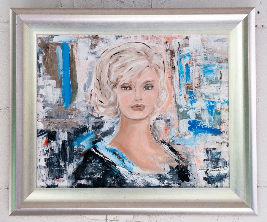 """Girl #2 - 16"""" x 20"""" - Acrylic on Canvas"""