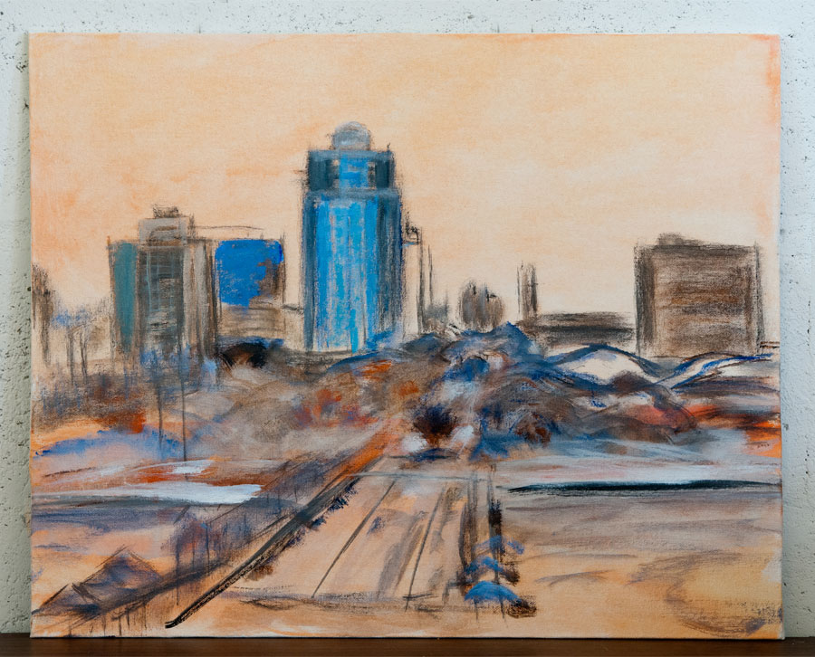 """Downtown St. Pete - 16"""" x 20"""" - Acrylic on Canvas Panel Board"""