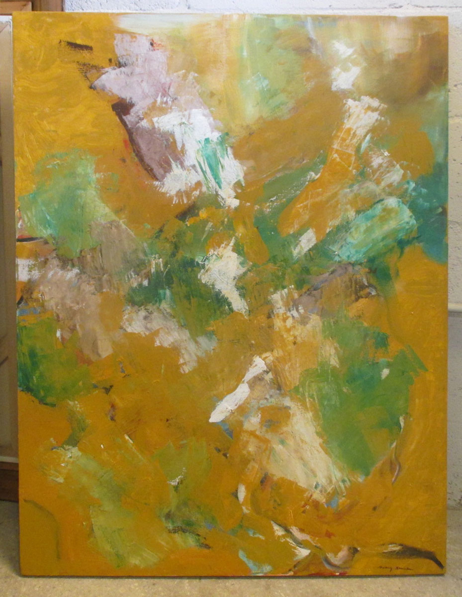 Abstract Expressionist Flowers (SOLD)